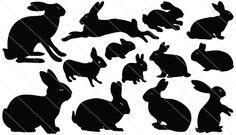 Rabbit Silhouette Vector (13)