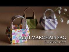 折り紙1枚のかんたんミニマルシェバッグ★ちいさなかばん★【Origami Tutorial】(#74) - YouTube