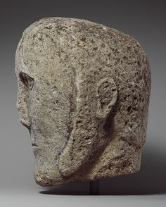 Head of a Man Wearing a Cap or Helmet, Celtic, possibly British or Irish, c. 2nd…