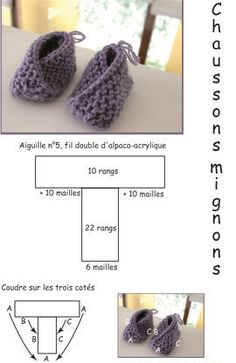 Crochet Baby Sandals, Crochet Baby Clothes, Crochet Shoes, Crochet Slippers, Baby Booties Knitting Pattern, Knit Baby Booties, Baby Knitting Patterns, Knit Baby Pants, Baby Clothes Patterns