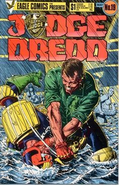 Classic Bolland Cover for the Eagle Comics Reprints. Orlok takes it to Dredd.