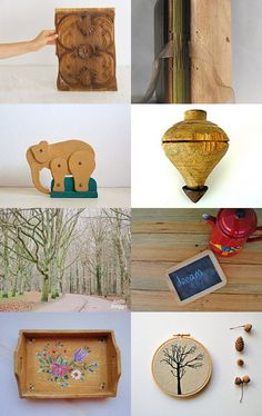 Christmas in wooden colors by Ana Ribeiro on Etsy--Pinned with TreasuryPin.com #PTteamEtsy #ChristmasColorsProject #EtsyEurope #Portugal