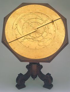 Attributed to Giovanni Battista Giusti Later 16th century; Florence Brass and wood; 840 mm in diameter Astrolabe.   The instrument belonged to the Medicean collections. It was requested and borrowed by natural philosophers and mathematical practitioners who wished to make calculations and observations of the Florentine sky, including Galileo. Istituto e Museo di Storia della Scienza, Firenze Inventory no. 3361