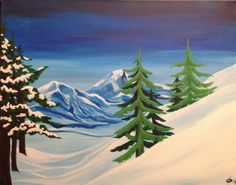 Electric Elaine's new #SocialArt #painting, Blue Mountain! Join us for a session of great company and amazing art!