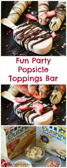 A Fun Party Popsicle Toppings Bar will let everyone customize their popsicles! It is so easy to set up. Try the recipe for this fun dessert for your next party or picnic!
