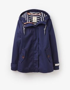 Coast French Navy Waterproof Hooded Jacket | Joules US