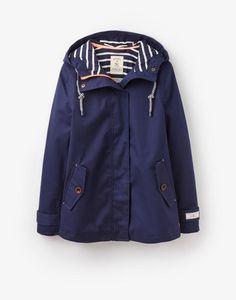 Coast French Navy Waterproof Hooded Jacket   Joules US
