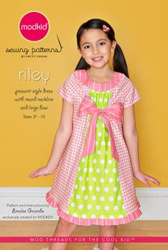 """Riley"" Boutique Sewing Pattern for Modkid by Patty Young"