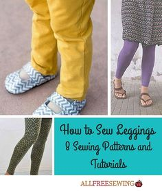 How to Sew Leggings: 8 Sewing Patterns and Tutorials   AllFreeSewing.com