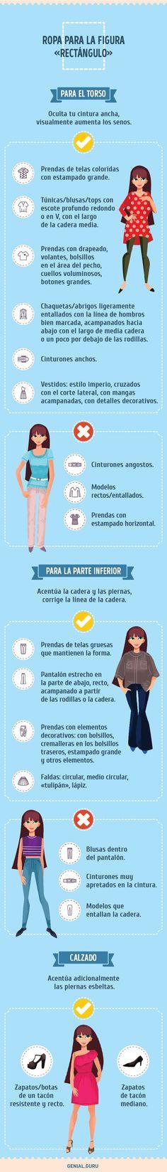 How to dress rectangle body shape Body Positivity, Fashion Looks, Fashion Tips, Fashion Design, Women's Fashion, Fasion, Personal Image, Body Top, Rectangle Shape