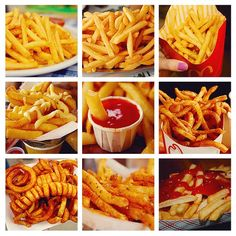 ImageFind images and videos about food, yummy and delicious on We Heart It - the app to get lost in what you love. I Love Food, Good Food, Yummy Food, Food Porn, Fries Recipe, French Fries, Food And Drink, Cooking Recipes, Tasty