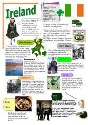 English worksheet: IRELAND