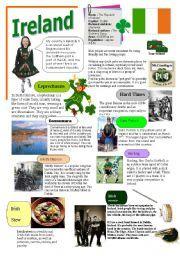 English worksheet: IRELAND