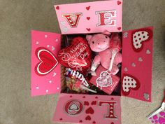 Valentine's Day box! Teddy bears and his favorite candy
