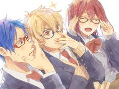 Rei, Nagisa, and Gou ~ Free!