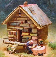 Une bibliothèque n'est pas seulement un endroit où règne l'ordre et le chaos, c'est aussi le royaume du hasard.