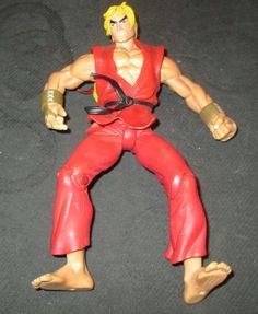 Street Fighter - Ken - Red - 1999 - Capcom  Round One -Video Game Resaurus (Dad) #ReSaurus