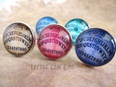 One Vintage Style Ouija Board Ring  20mm  Silver by LittleGemGirl, $16.00