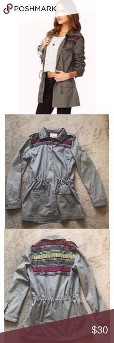 Love 21 Contemporary Wordly Girl Utility Jacket S Cute Boho Utility Jacket in great condition. Forever 21 Jackets & Coats Utility Jackets