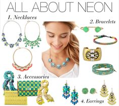 ALL ABOUT NEON by Stella Dot.   Www.stelladot.com/sites/emBurgoin