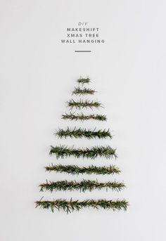 Minimalist Christmas Tree. Gloucestershire Resource Centre http://www.grcltd.org/scrapstore/