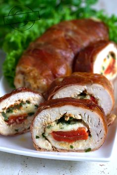 Food Hacks, Mozzarella, Poultry, Baked Potato, Diet Recipes, Sushi, Food And Drink, Dishes, Cooking