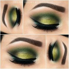 Green eye makeup More #greeneyeshadows