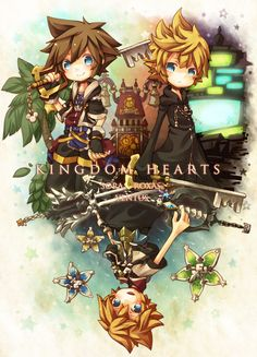 Kingdom Hearts - Sora, Roxas and Ventus. And if you've played the whole series then the composition of this really makes sense.