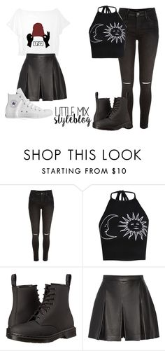 """*REQUESTED* Jade Inspired for a Twenty One Pilots"" by littlemix-styleblog ❤ liked on Polyvore featuring River Island, Boohoo, Dr. Martens, Proenza Schouler and Converse"