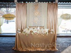 """Gold Wedding в кафе Академия"" - оформление свадеб от ""Настя Рай"""