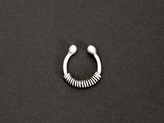 coil faux septum captive fake nose ring / sterling silver