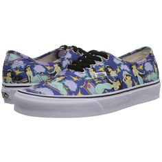 Vans Disney Authentic Jasmine/Deep Ultramarine) Skate Shoes ($60) ❤ liked on Polyvore featuring shoes, sneakers, grip trainer, waist trainer, famous footwear, lightweight running shoes and vans sneakers
