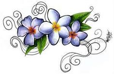 Plumeria Siam Lilac And Jack Purple Tattoo By Styx Leagon On