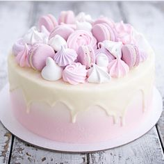 50 Ideas cake white pink sweets for 2019 Pretty Cakes, Cute Cakes, Beautiful Cakes, Amazing Cakes, Cake Cookies, Cupcake Cakes, Baking Cupcakes, Pink Sweets, Sweets Cake