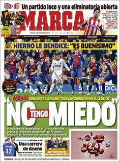 Los Titulares y Portadas de Noticias Destacadas Españolas del 1 de Febrero de 2013 del Diario Deportivo MARCA ¿Que le parecio esta Portada de este Diario Español?