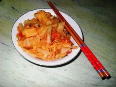 : Kimchi din varza româneasca Kimchi, Cabbage, Good Food, Meat, Chicken, Vegetables, Canning, Cabbages, Vegetable Recipes