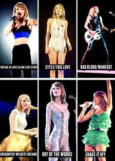 1989 TOUR OUTFITS!!! LOVE TAYLOR SWIFT SO MUCH!!!