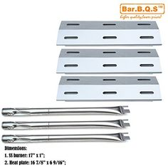 Bar.b.q.s Gas Grill Barbecue Reparts KIT Replacement For Ducane 30400040 , 3200,3400 Grill Models 3pack Stainless Steel Burners