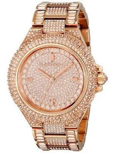 Michael Kors Camille Rose Gold Crystals Pave Dial MK5862 Women s Watch  Watches For Men, Stylish ae422e00f3