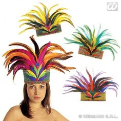 Rio De Janeiro Feather Crown Hat for South American Brazil Brasilian Carnival Fancy Dress Accessory WIDMANN http://www.amazon.co.uk/dp/B00VIB55O6/ref=cm_sw_r_pi_dp_ddtiwb0D7PGRP