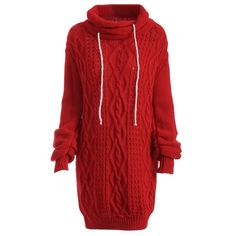 23.87$  Buy here - http://diwjq.justgood.pw/go.php?t=200130102 - Turtleneck Long Sleeve Cable Knit Sweater Dress 23.87$