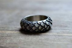 The Handmade Game of Thrones Inspired Sterling Silver Ring Brings Dragon Scales on Your Finger