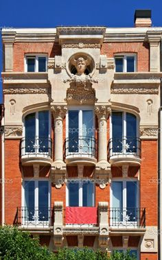 Beautiful Art Nouveau building in Burgos, Spain.