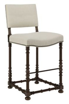 Blackstone Bar Stool - Walnut from the Hartwood collection by Hickory Chair Furniture Co.