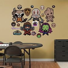 Fathead Guardians of The Galaxy Kawaii Collection Real Decals @ niftywarehouse.com #NiftyWarehouse #Geek #Fun #Entertainment #Products