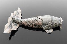 "Beautiful Dollar Origami Art By Craig Sonnenfeld : "" Craig Sonnenfeld  creates amazing origami art by folding real dollar bills. The artist ..."