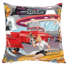 Retro-Inspired Pin-up cushion | by Jeez Louise