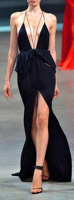 high end hippie... #fashionable long #black #dress