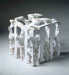 Bente Skjøttgaard: White cube, Stoneware and glaze, hand built 23 x 23 x 23 cm Photo: Ole Akhøj