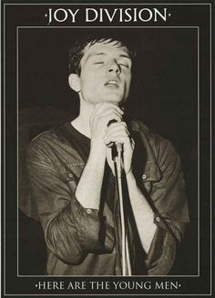 """A great poster of Joy Division front-man Ian Curtis! """"Here Are the Young Men"""" is a hard-to-find concert video of the band during 1979-1980. Ships fast. 24x33 inches. You'll be over""""joy""""ed by the rest"""